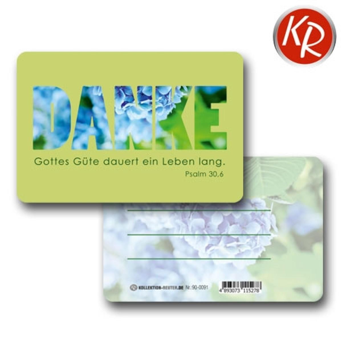 20er-Pack Kleinkärtchen DANKE 90-0091