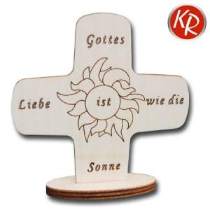"""Aufstellkreuz  """"Gottes liebe ist wie die Sonne"""" 2559"""