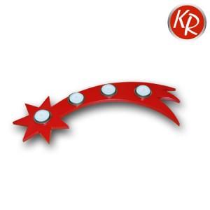 Teelichtadventsleuchter Stern rot 2595