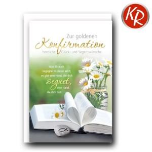 Faltkarte Goldene Konfirmation 26-3017