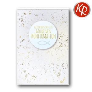 Faltkarte Goldene Konfirmation 26-3020
