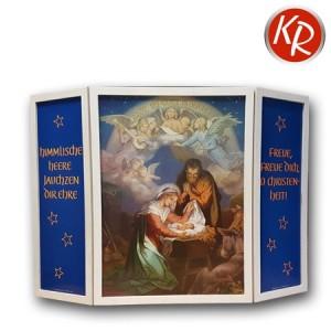 Transparent mit Holzrahmen Himmlische Heere   27-4500
