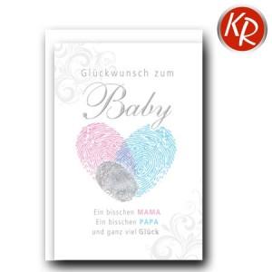 Faltkarte Geburt 30-0127