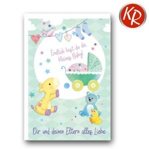 Faltkarte Geburt 30-0151