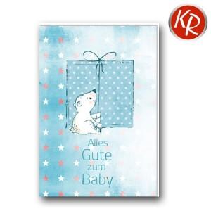 Faltkarte Geburt 30-0155