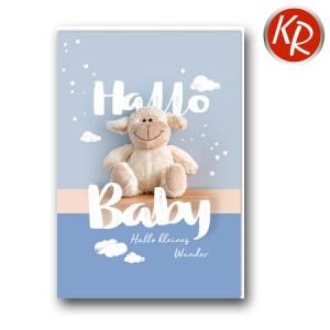 Faltkarte Geburt 30-0158