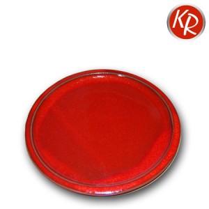 Teller rot Durchm. 21 cm, 3078