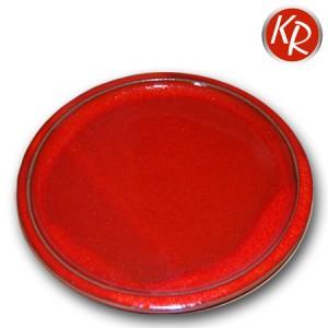 Teller rot Durchm. 26 cm, 3079