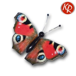 Schmetterling aus Holz Tagpfauenauge 3513