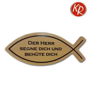 """Wandbild Fisch """"Der Herr segne dich"""" 3527"""