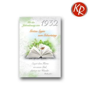 Faltkarte mit Jahreslosung von 1932 45-6732