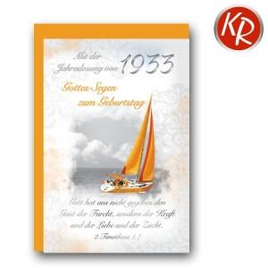 Faltkarte mit Jahreslosung von 1933 45-7233