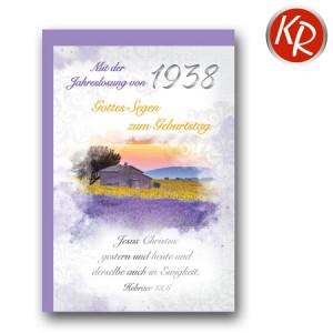 Faltkarte mit Jahreslosung von 1938 45-7238
