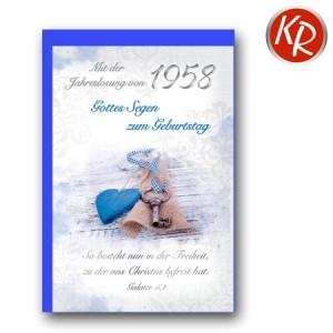 Faltkarte mit Jahreslosung von 1958 45-7258