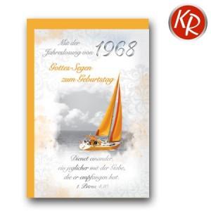 Faltkarte mit Jahreslosung von 1968 45-7268