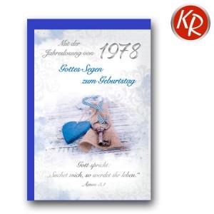 Faltkarte mit Jahreslosung von 1978 45-7278