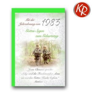 Faltkarte mit Jahreslosung von 1983 45-7283