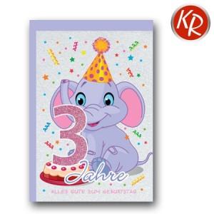 Faltkarte zum 3. Geburtstag  45-7303