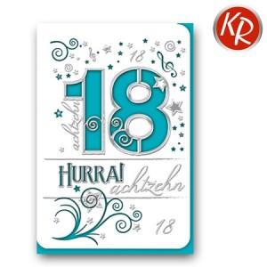 Faltkarte zum 18. Geburtstag  45-7318
