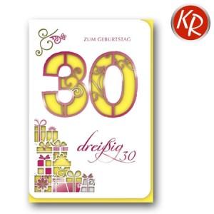 Faltkarte zum 30. Geburtstag  45-7330