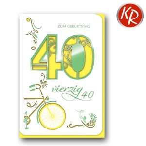 Faltkarte zum 40. Geburtstag  45-7340