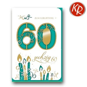 Faltkarte zum 60. Geburtstag  45-7360