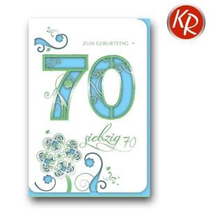 Faltkarte zum 70. Geburtstag  45-7370
