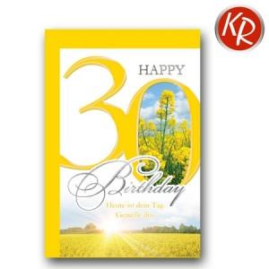 Faltkarte zum 30. Geburtstag  45-7530