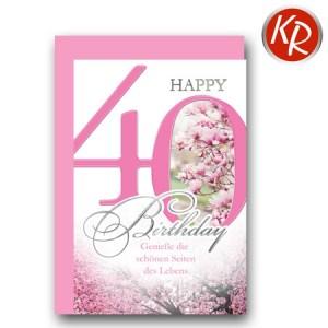 Faltkarte zum 40. Geburtstag  45-7540