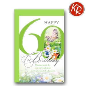 Faltkarte zum 60. Geburtstag  45-7560