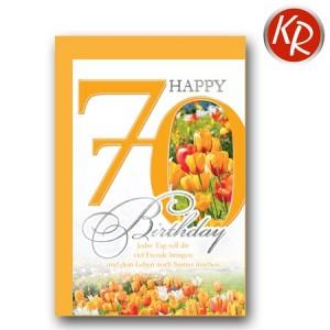 Faltkarte zum 70. Geburtstag  45-7570