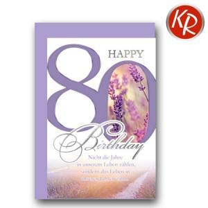 Faltkarte zum 80. Geburtstag  45-7580