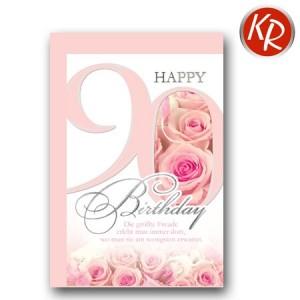 Faltkarte zum 90. Geburtstag  45-7590