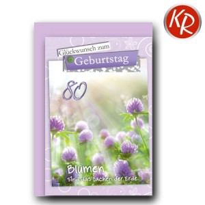Faltkarte zum 80. Geburtstag  45-7780