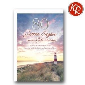 Faltkarte zum 80. Geburtstag  45-7980