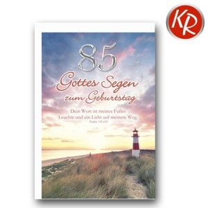Faltkarte zum 85. Geburtstag  45-7985