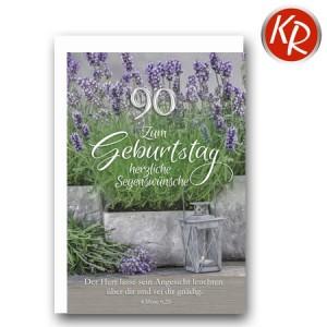 Faltkarte zum 90. Geburtstag  45-8090