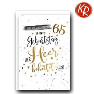 Faltkarte zum 65. Geburtstag  45-8165