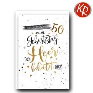 Faltkarte zum 50. Geburtstag  45-8150