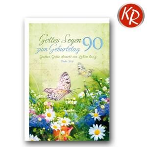 Faltkarte zum 90. Geburtstag  45-8290