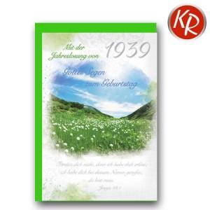 Faltkarte mit Jahreslosung von 1939 45-8339