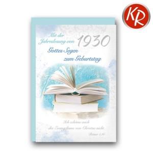 Faltkarte mit Jahreslosung von 1930 45-8930