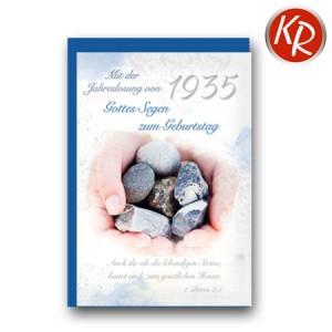 Faltkarte mit Jahreslosung von 1935 45-8935