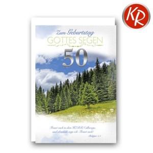 Faltkarte zum 50. Geburtstag  45-9050