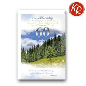 Faltkarte zum 60. Geburtstag  45-9060