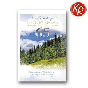 Faltkarte zum 65. Geburtstag  45-9065