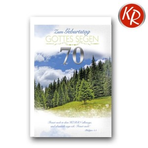 Faltkarte zum 70. Geburtstag  45-9070