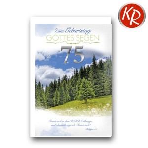 Faltkarte zum 75. Geburtstag  45-9075