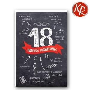 Faltkarte zum 18. Geburtstag  45-9118