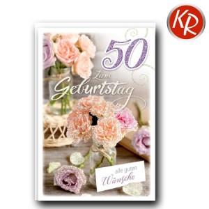 Faltkarte zum 50. Geburtstag  45-9250